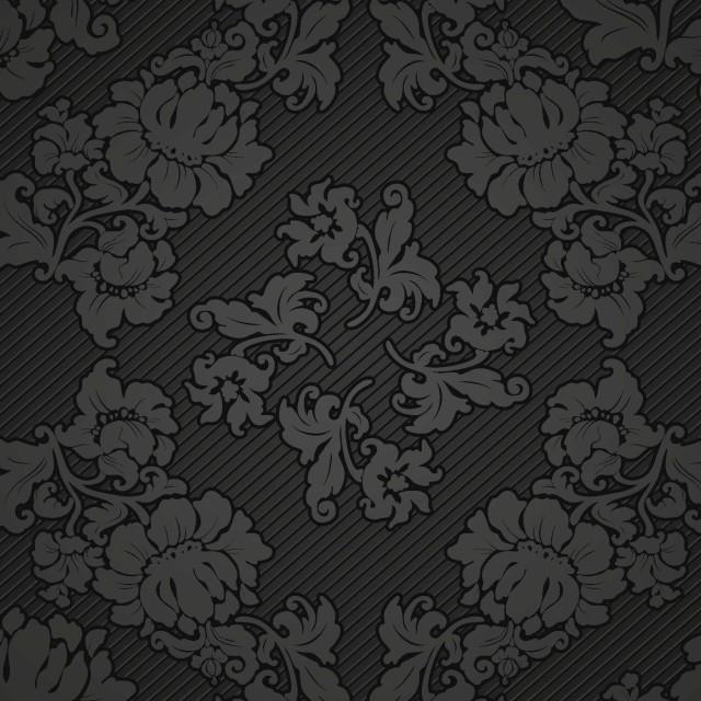 Schwarze gemusterte Tapete © Thinkstock