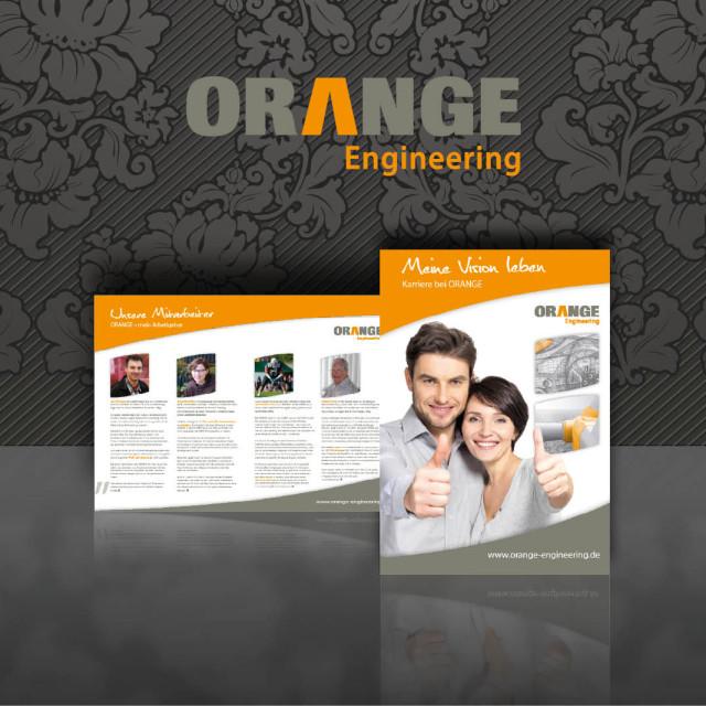 Orange Bewerberbroschüre