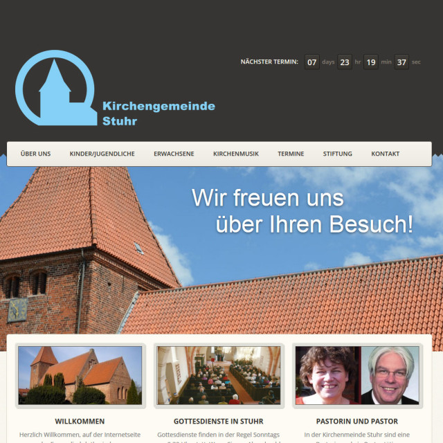 Screenshot Website Kirche Stuhr