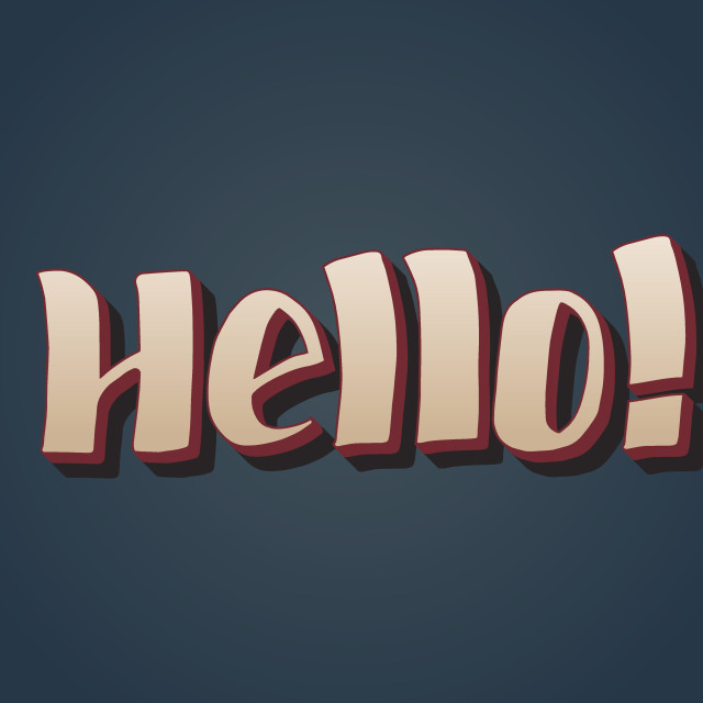 Hello - hand drawn lettering, eps 8 vector illustration