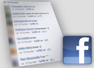Facebook-Screenshot und -Logo